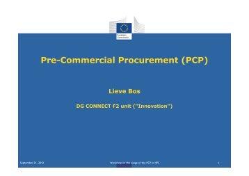 (Microsoft PowerPoint - 2-Workshop PCP_EC Lieve Bos ... - prace