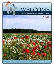July 17, 2011 - Westminster Presbyterian Church