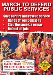 8653 FBU TUC Oct 20 Leaflet 1 LONDON - Fire Brigades Union