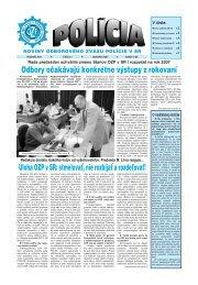 Úloha OZP v SR - Odborový zväz polície v Slovenskej republike