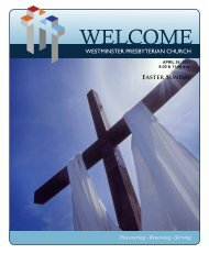 April 24, 2011 - Easter - Westminster Presbyterian Church