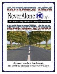 2009-Oct-Nov - San Fernando Valley Area of Narcotics Anonymous