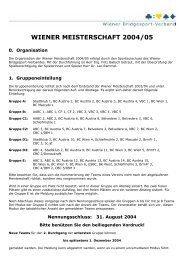 WIENER MEISTERSCHAFT 2004/05 - Bridgewien.at