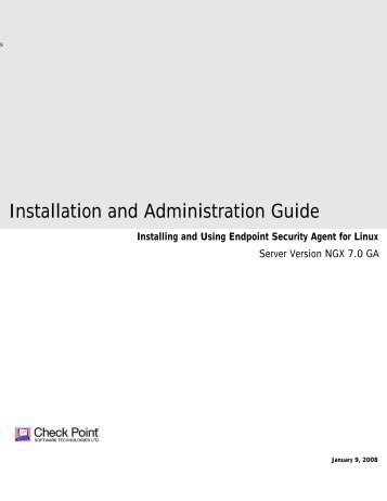 Endpoint Security Agent for Linux Installation and ... - Check Point
