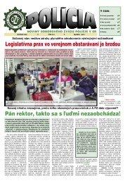 policia03/12 - Odborový zväz polície v Slovenskej republike