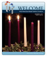 December 4, 2011 - Westminster Presbyterian Church
