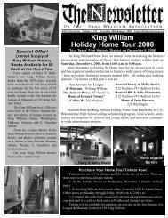 December 2008 - King William Association