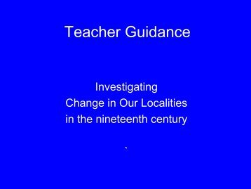 Teacher Guidance - Royal Commission on the Ancient and ...