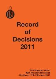 7410 FBU Rec of Decs 2011 FOR WEB - Fire Brigades Union