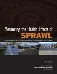 Measuring the Health Effects of Sprawl - Smart Growth America