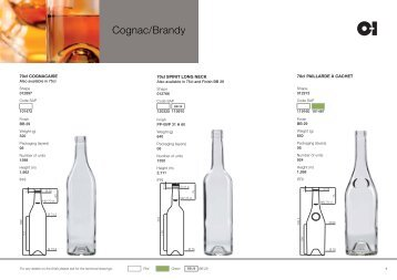 European Cognac Products Catalogue