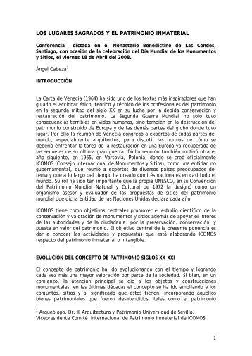 ICOMOS Y EL PATRIMONIO INMATERIAL - Revista America ...