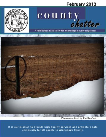 February 2013 County Chatter - Winnebago County, Illinois