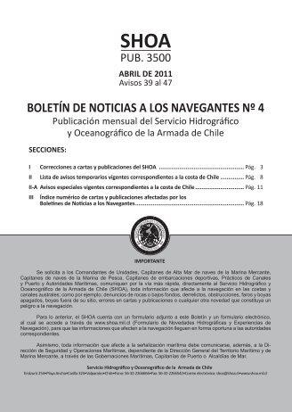 BOLETÍN DE NOTICIAS A LOS NAVEGANTES Nº 4 - Shoa
