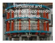 Turbulent structures and turbulence suppression in the helimak