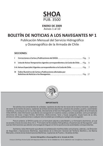 Boletín de Noticias a loa Navegantes Nº 1 de 2009 - Shoa