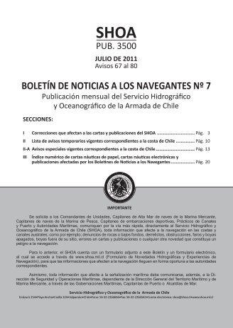 BOLETÍN DE NOTICIAS A LOS NAVEGANTES Nº 7 - Shoa