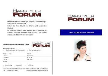 Was ist Hairstyler Forum?