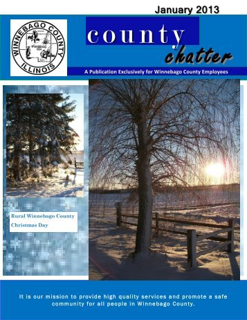 January 2013 County Chatter - Winnebago County, Illinois