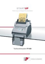 Tischkuvertiersystem FPi 600 - Okapost GmbH