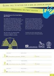 uranabbau weltweit ächten global call to action ... - NUCLEAR-RISKS