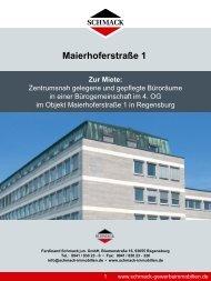 Maierhoferstraße 1 Zur Miete - Schmack Immobilien