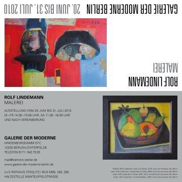 rolf lindemann malerei Galerie der moderne berlin 20. juni bis 31 ...