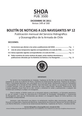 BOLETÍN DE NOTICIAS A LOS NAVEGANTES Nº 12 - Shoa
