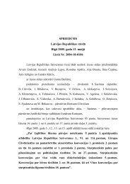 SPRIEDUMS Latvijas Republikas vārdā Rīgā 2005. gada 13. maijā ...