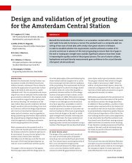 Design and validation of jet grouting for the ... - Smet-Keller