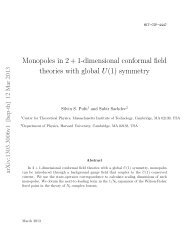 Monopoles in 2 + 1-dimensional conformal field theories with global ...