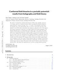 Conformal field theories in a periodic potential - Harvard University