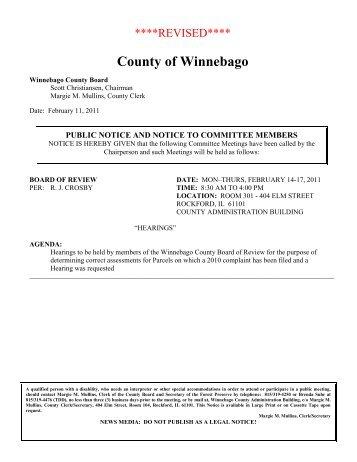 County of Winnebago - Winnebago County, Illinois