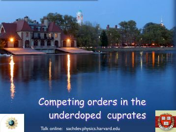 Competing orders in the underdoped cuprates