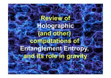 Holographic (and other) computations of Review of computations of ...