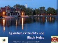 Quantum Criticality and Black Holes