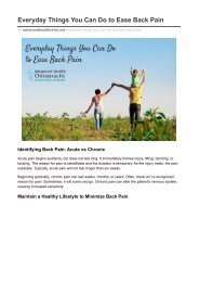 Everyday Things You Can Do to Ease Back Pain - Advanced Health Chiropractic