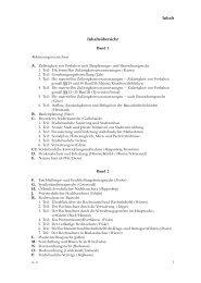 Inhaltsˇbersicht Inhalt - Handbuch des öffentlichen Baurechts