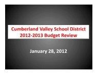 Cumberland Valley School District 2012-‐2013 ... - PennLive.com