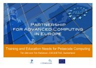 Training and Education Needs for Petascale Computing - prace