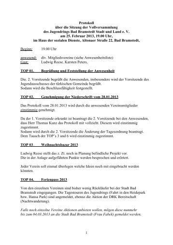 Sitzung vom 25.02.2013 - Jugendring Bad Bramstedt