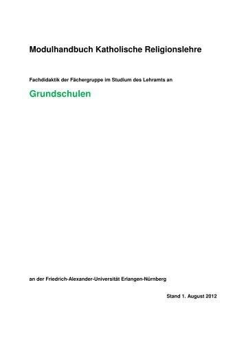 Modulbeschreibungen GS_ WS 12 1 - Didaktik des kath ...