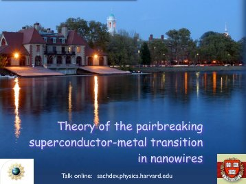 Theory of the pairbreaking superconductor-metal transition in ...