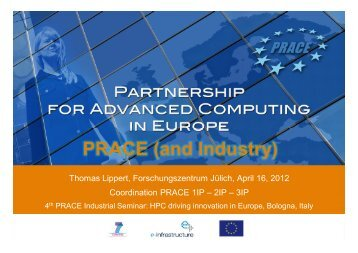 PRACE (and Industry)