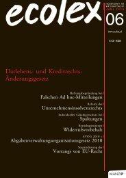 Darlehens- und Kreditrechts- Änderungsgesetz - BARNERT ...