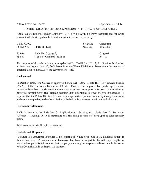 ccbf9b2960d Advice Letter No. 137-W September 21