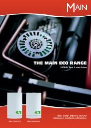 THE MAIN ECO RANGE - RCH Heating & Plumbing Ltd.