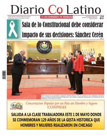 Edición 30 de Abril de 2015