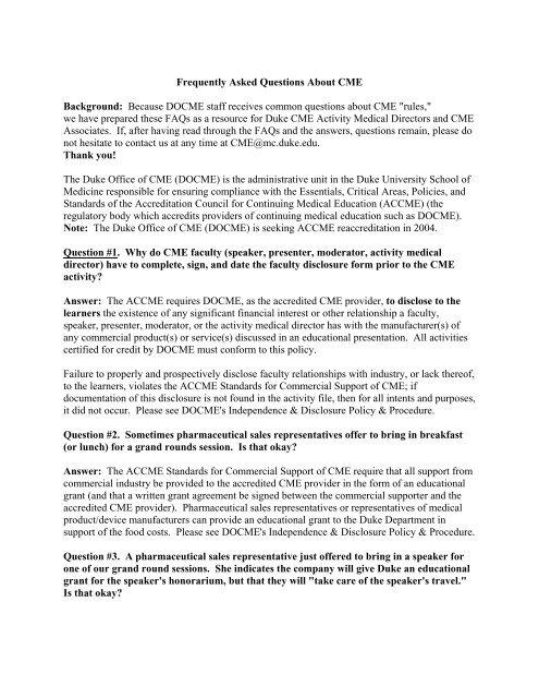 Prospective communication of learning objectives - Duke University
