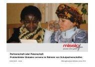 Partnerschaft oder Patenschaft - Problemfelder Globalen Lernens im ...